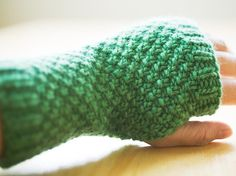 Inspired by the Emerald Green Handwarmers by creativeyarn , here are the Carrie handwarmers that were created as a birthday present to ou...