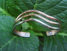 Accessorize with a copper cuff.