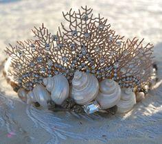 Seashell Mermaids | ... mermaid s palace seashell tiaras using authentic seashells pearl beads