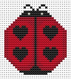 Sew Simple Ladybird cross stitch kit