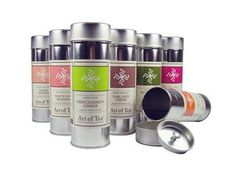 Art of Tea Canisters Teas ranging from French Lemon Ginger to Early Grey Creme. Great Stocking Stuffer too!!  Only $11.00 Mulitple Servings