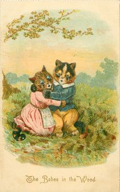 The Babes in the Wood, United Kingdom, 1903, by Louis Wain.