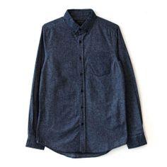 Blue Comb Flannel Shirt