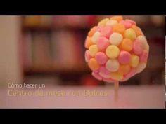 Adorno de dulces para Centro de mesa - YouTube