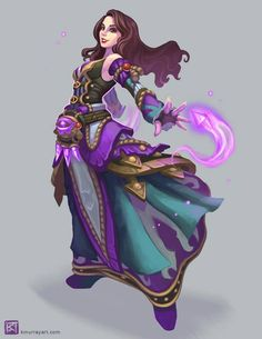 World of Warcraft Arcane Mage by Katherine Murray Dnd Characters, Fantasy Characters, Female Characters, Fictional Characters, Character Concept, Character Art, Character Reference, Character Ideas, Concept Art