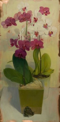 """Benjamin Shamback-""""Orchids and Butterfly"""""""