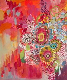 Miss Libby  Original Acrylic Painting on Canvas by stephaniecorfee, $395.00