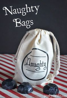 Make these fun DIY Naughty Bags with this easy to follow tutorial from Kelsey at Poofy Cheeks!