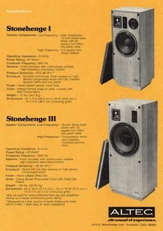 Hi Gents, I found a pair of Altec High Transducer, I dont have the general specs. Number is That HF is used in the Altec Stonehenge I. Horn Speakers, Audio Speakers, Stonehenge, Diy Hifi, Altec Lansing, Speaker Box Design, Audio Design, Boombox, Posters