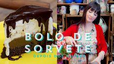 BOLO DE SORVETE Com Brownie e Calda de Chocolate   Depois dos Quinze 10 ...