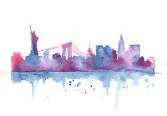 nyc watercolor tattoo - Google Search