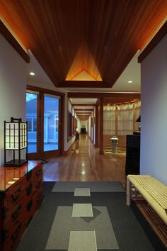 Interior Entry Of Cape Cod Home Designed With Asian Influence. Architectural  Design ...