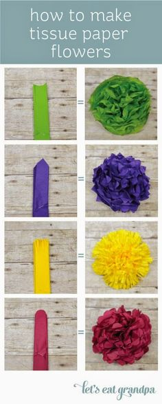 Best DIY Projects: Pinned more than 20,000 times! How to Make Paper Flowers -- four different ways!