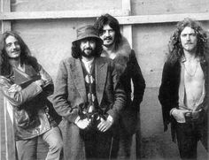 Led Zeppelin, Backstage at The Bath Festival, 1970.