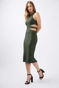 Two Cut Out Side Midi Dress
