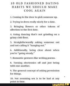 Old Fashioned Dating Cool Again