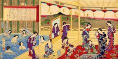 #Art #Onsen #Bathing