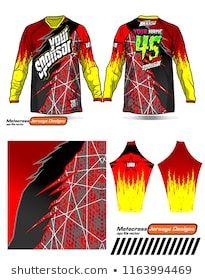 6443c8745 Long sleeve Motocross jerseys t-shirts vector, graphic design for football  uniforms, unisex