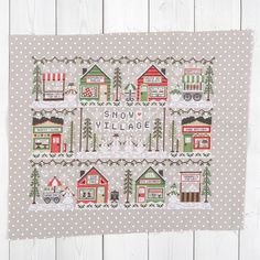 "612 mentions J'aime, 10 commentaires - Fat Quarter Shop Cross Stitch (@fqsxstitch) sur Instagram : ""During this morning's Floss Tube, Kimberly showed off her completed Snow Village project - isn't it…"" Stitch 2, Cross Stitch, Country Cottage Needleworks, Fat Quarter Shop, Needlecrafts, Christmas Cross, Tube, Snow, Holiday Decor"