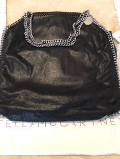 f5699a7ece8 Details about GORGEOUS RARE- Blue Black Stella McCartney Large Shaggy Deer  Falabella Tote Bag
