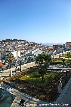 Terrace with a view over old Lisbon - Miradouro de São Pedro de Alcântara - Lisboa - Portugal