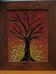 Image result for autumn tree mosaics