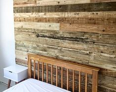 reclaimed pallet wood rustic wall cladding panels m per pack wood wall panelling interior wood decor boards timber planks Wood Wall Tiles, Wood Plank Walls, Wooden Wall Panels, Wooden Wall Shelves, Wooden Walls, Timber Planks, Wooden Wall Design, Rustic Wood Wall Decor, Reclaimed Wood Accent Wall