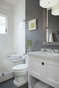 Best Small Bathroom Remodel: 111 Design Ideas www.futuristarchi& Source by futuristarch The post 5 Modern Small Bathroom Trends for 2020 appeared first on Wickens Contracting. Hall Bathroom, Upstairs Bathrooms, Basement Bathroom, Bathroom Toilets, Master Bathroom, White Bathroom, Small Bathroom Redo, Silver Bathroom, Bathroom Plumbing