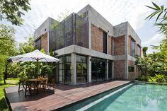 Une architecture prenant en compte l'ancienne forme en la remodelant au goût du jour