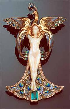 Femme-paon or Metamorphose. Philippe Wolfers, 1900