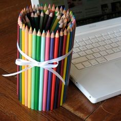 Colored Pencil Can- 25 Cute and Creative DIY Back To School Crafts