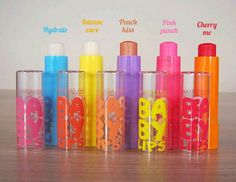 Baby Lips Hydrate Intese care Peach kiss Pink Punch Cherry me