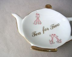 Tea for Two Vintage Tea Bag Holder by fifthquadrant Tea Strainer, Tea Infuser, Tea Quotes, Tea Party Bridal Shower, Japanese Tea Ceremony, Tea Art, My Cup Of Tea, Tea Accessories, Vintage Tea