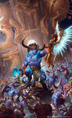 Age of Sigmar   Host of Change/Tzeentchian Horde vs Stormcast and Duradins
