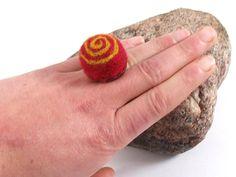 Antique Brass Ring  Elvish Ring   Fantasy Felt by FeltYourself, zł50.00
