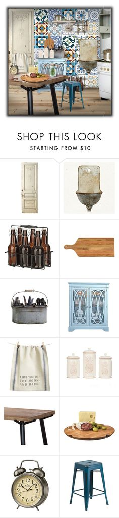 """Tile"" by monika-jall ❤ liked on Polyvore featuring interior, interiors, interior design, home, home decor, interior decorating, WALL, Jayson Home, Curio and Primitives By Kathy"