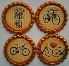 Keep Calm Bike Magnet  bike gift  Set of Four via Etsy