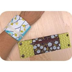 In The Hoop :: Wrist Wallet - Embroidery Garden In the Hoop Machine Embroidery Designs