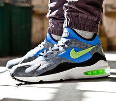 Size x Nike Air Max 93-Flash Lime-Game Royal Tenis ad460bc757160