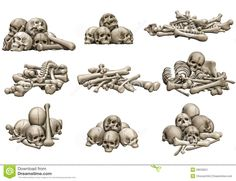 pile of bones - Google Search