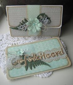 Handmade gift envelope by DT member Boukje with Creatables Confetti (LR0342), Tiny's Ferns (LR0403) and Craftables Hartelijk Gefeliciteerd (CR1319) from Marianne Design
