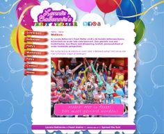 Website voor Lonnie Ballonnie clown en ballonnenkunstenaar.  http://www.lonnieballonnie.nl