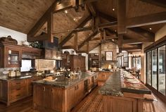 6 Experienced Clever Tips: Lowes Kitchen Remodel House dutch colonial kitchen remodel.Small Narrow Kitchen Remodel kitchen remodel tips renovation.Easy Kitchen Remodel Tips. Log Cabin Kitchens, Log Cabin Homes, Log Cabins, Log House Kitchen, Barn Homes, Rustic Kitchen Design, Rustic Design, Kitchen Layout, Kitchen Ideas