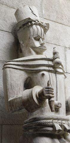 Urhobo Edjo Re Akare ('Warrior' Spirit Figure), Nigeria http://www.imodara.com/post/98177053139/nigeria-urhobo-edjo-re-akare-spirit-figure