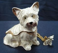 West Highland Terrier Dog trinket box
