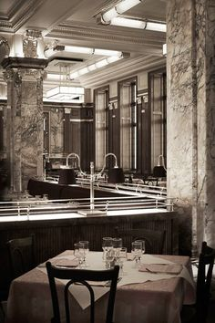 LONDON, ENGLAND  Brasserie Zédel's bones are nearly 100 years old. The restaurant was originally part of the Regent Palace Hotel, Europe's largest hotel when it was completed in 1915. In the '30s it was given an Art Deco overhaul