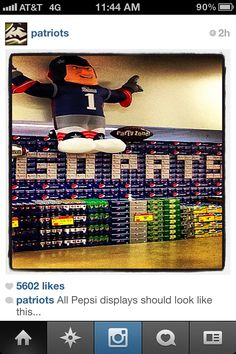 Check Out This GO PATS Pepsi Display From Patriots Instagram Account. The  Awesome Boston ec9c483c2