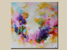 Painting on canvas, Abstract painting,Original Painting,Acrylic Painting,purple,pink,yellow,Original Fine Art