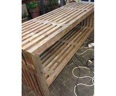 Billedresultat for trelle bænk Outdoor Gardens, Outdoor Furniture, Wood, Crafts, Decor, Google, Manualidades, Woodwind Instrument, Timber Wood