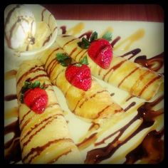 Crepes stuffed with Nutella & Chocolate from Sal Pa'Fuera Restaurant Caguas